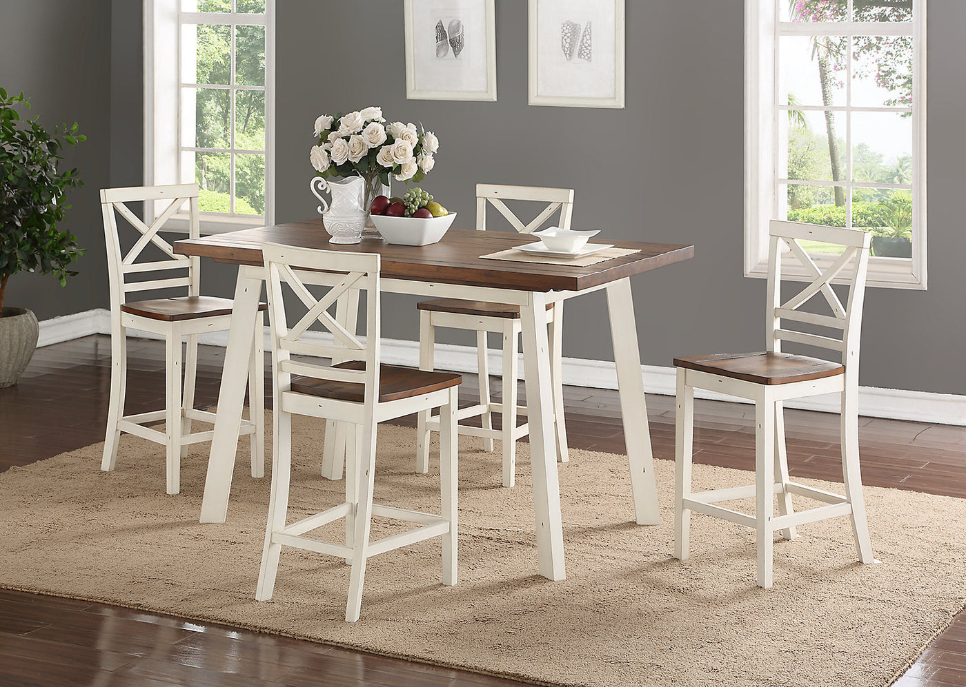 Amelia Counter-Height Dining Table – White