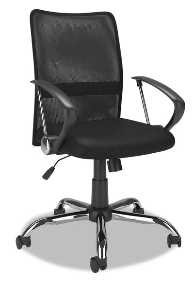 Andre Office Chair - Black|Chaise de bureau Andre - noire|ANDBKCHR