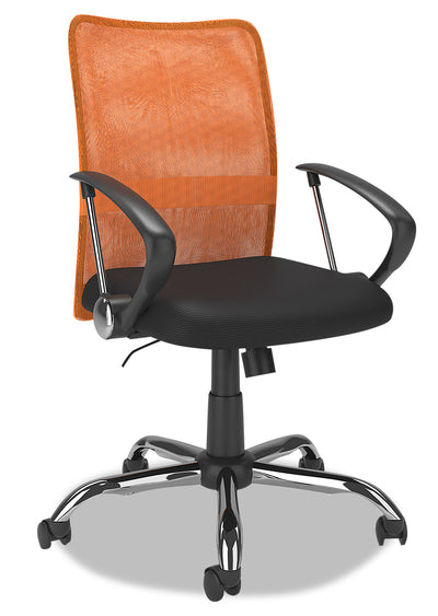 Andre Office Chair - Orange|Chaise de bureau Andre - orange|ANDORCHR