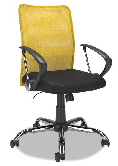 Andre Office Chair - Yellow|Chaise de bureau Andre - jaune|ANDYLCHR