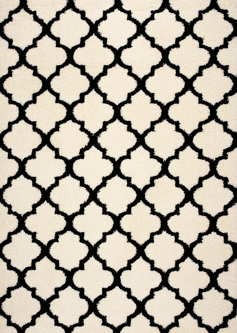 "Anika  Black and Cream Area Rug – 6'7"" x 9'6""