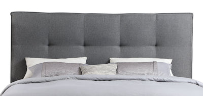 Asha King Headboard - {Contemporary} style Headboard in Grey {Solid Woods}, {Plywood}
