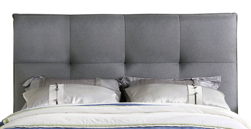 Asha Queen Headboard - {Contemporary} style Headboard in Grey {Solid Woods}, {Plywood}
