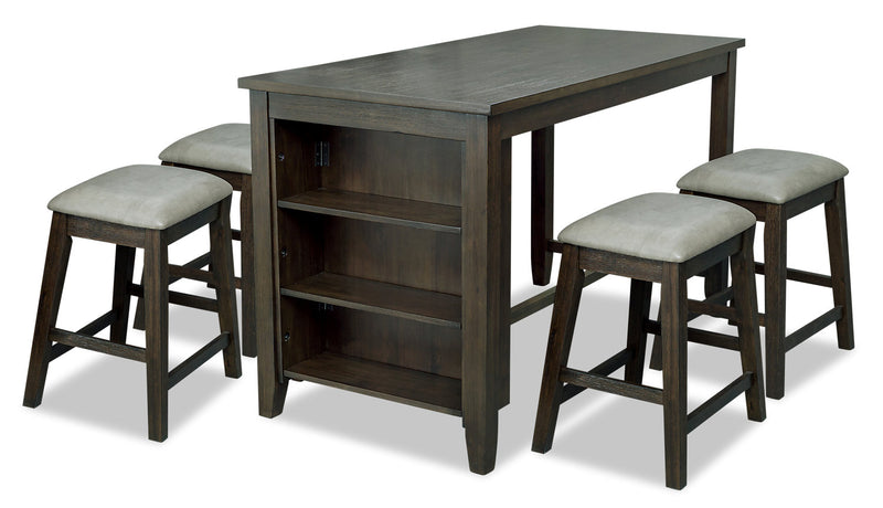 Astoria 5-Piece Counter-Height Dining Set|Ensemble de salle à manger Astoria 5 pièces de hauteur comptoir