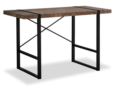 Avery Reclaimed Wood Look Desk - Brown