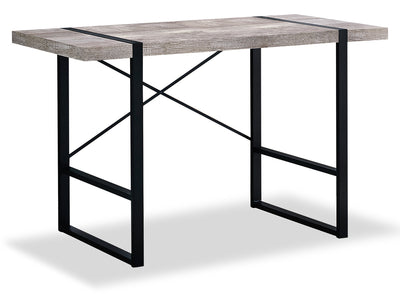 Avery Reclaimed Wood Look Desk - Taupe