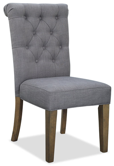 Ayla Accent Chair - Grey - {Contemporary}, {Glam} style Accent Dining Chair in Grey {Rubberwood}