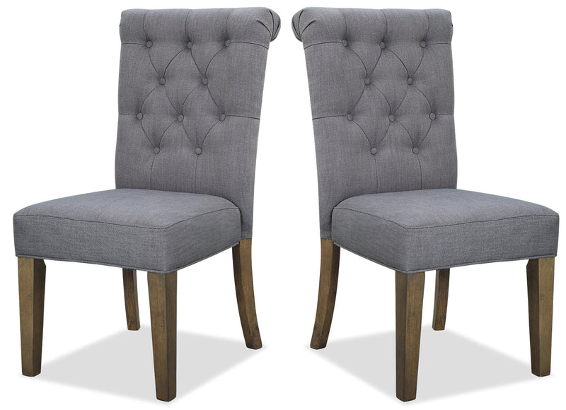 Ayla Accent Chair, Set of 2 - Grey|Chaise de salle à manger Ayla - grise|AYLAGDSP