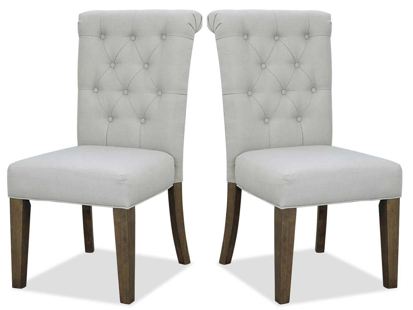 Taupe Accent Chairs.Ayla Accent Chair Set Of 2 Taupe