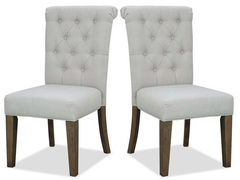 Ayla Accent Chair, Set of 2 - Taupe|Chaise de salle à manger Ayla, ensemble de 2 - taupe|AYLAGTSP