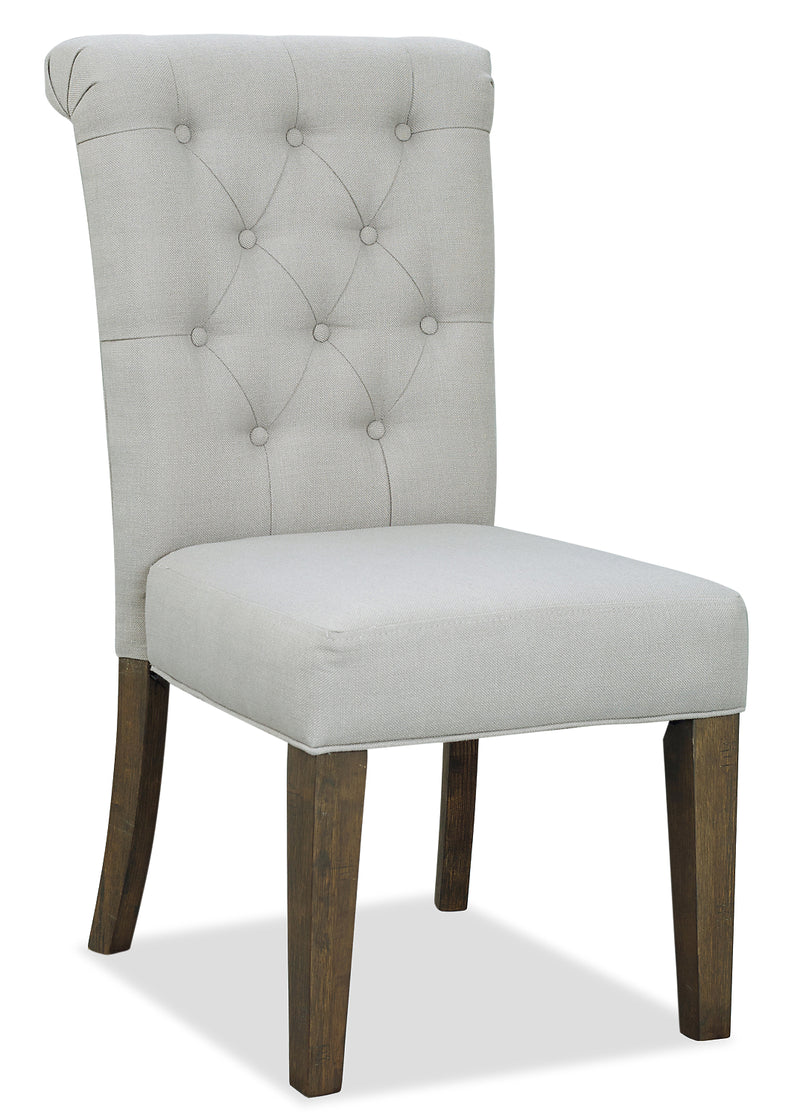 Ayla Accent Chair - Taupe - {Contemporary}, {Glam} style Accent Dining Chair in Taupe {Rubberwood}