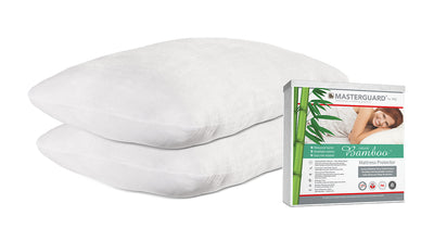 Masterguard® Natural Bamboo™ King Mattress Protector with 2 Natural Bamboo Pillows