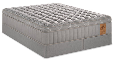 Serta Perfect Sleeper Vintage Bordeaux Eurotop Split Queen Mattress Set|Ensemble matelas à Euro-plateau divisé Bordeaux Vintage Perfect SleeperMD de Serta pour grand lit|BDEAUSQP