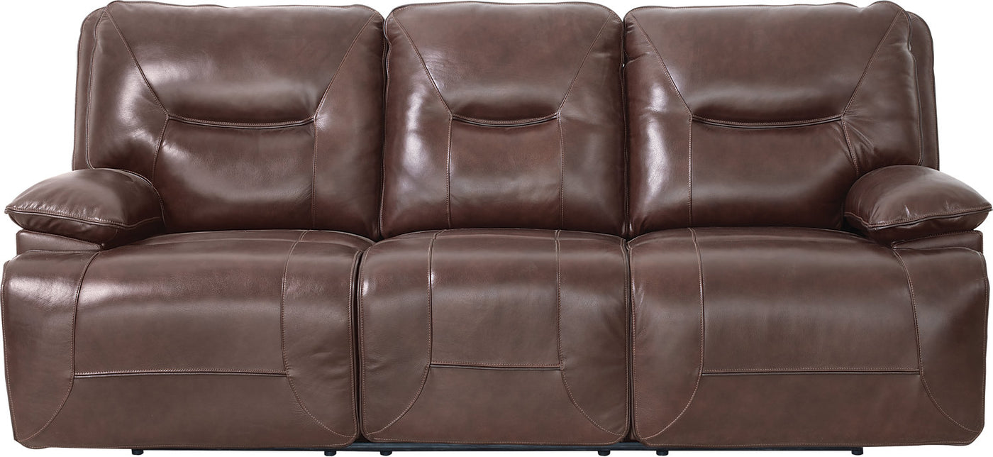 Beau Genuine Leather Power Reclining Sofa – Burgundy
