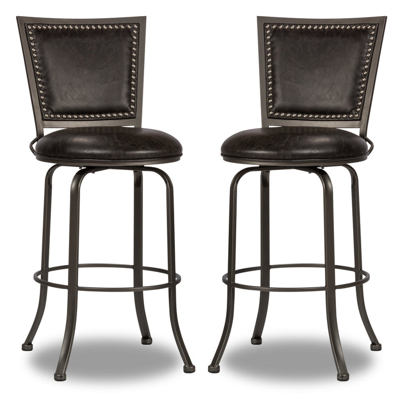 Belle Grove Bar Stool, Set of 2 - {Contemporary} style Bar Stool in Grey {Steel}