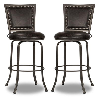 Belle Grove Counter-Height Bar Stool, Set of 2 - {Contemporary} style Bar Stool in Grey {Steel}