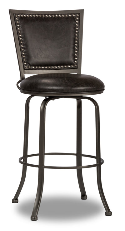 Belle Grove Counter-Height Bar Stool - {Contemporary} style Bar Stool in Grey {Steel}