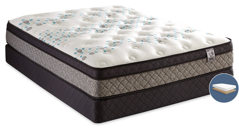 Springwall Bella Euro-Top Low-Profile King Mattress Set|Ensemble matelas à Euro-plateau à profil bas Bella Springwall pour très grand lit