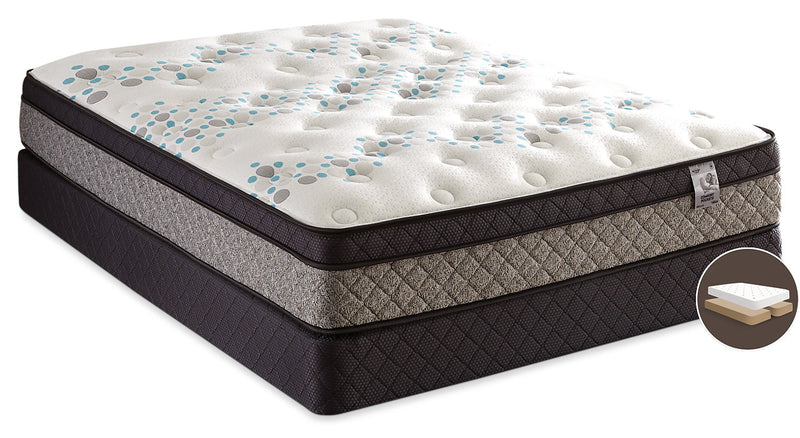 Springwall Bella Euro-Top Split Queen Mattress Set|Ensemble matelas à Euro-plateau divisé Bella de Springwall pour grand lit