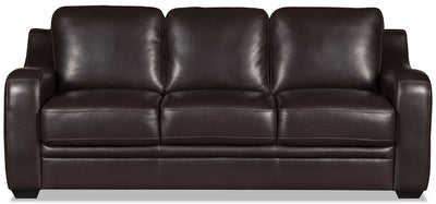 Benson Leather-Look Fabric Sofa Bed - Dark Brown|Sofa-lit Benson en tissu d'apparence cuir - brun foncé|BEN2BRSB