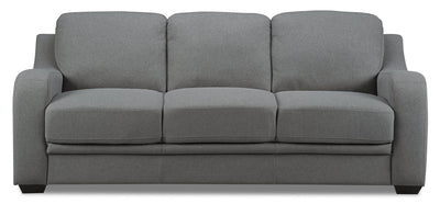 Benson Linen-Look Fabric Sofa Bed - Grey - {Modern} style Sofa Bed in Grey {Pine}, {Plywood}