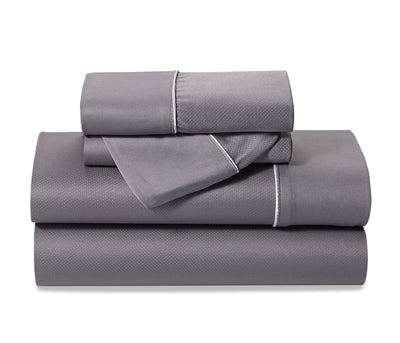 Bedgear Dri-Tec® Lite 3-Piece Twin Sheet Set - Grey - Grey Sheet Set