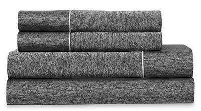 Bedgear Ver-Tex 4-Piece King Sheet Set - Graphite|Ensemble de draps 4 pièces Ver-TexMD de BedgearMC pour très grand lit - graphite|BFS68SKS