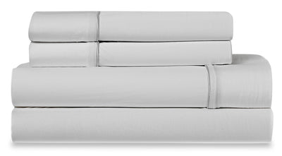 Bedgear Ver-Tex 4-Piece Queen Sheet Set - Ice White|Ensemble de draps 4 pièces Ver-TexMD de BedgearMC pour grand lit - blanc glacier|BFS68WQS