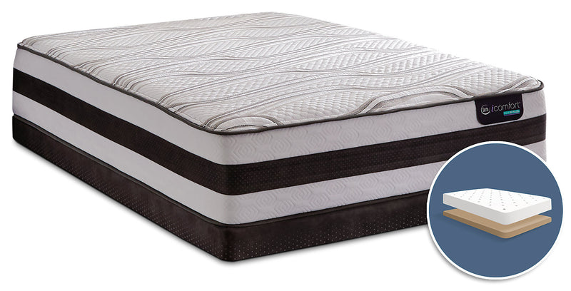 Serta IComfortR Hybrid Blanc Low Profile Queen Mattress Set