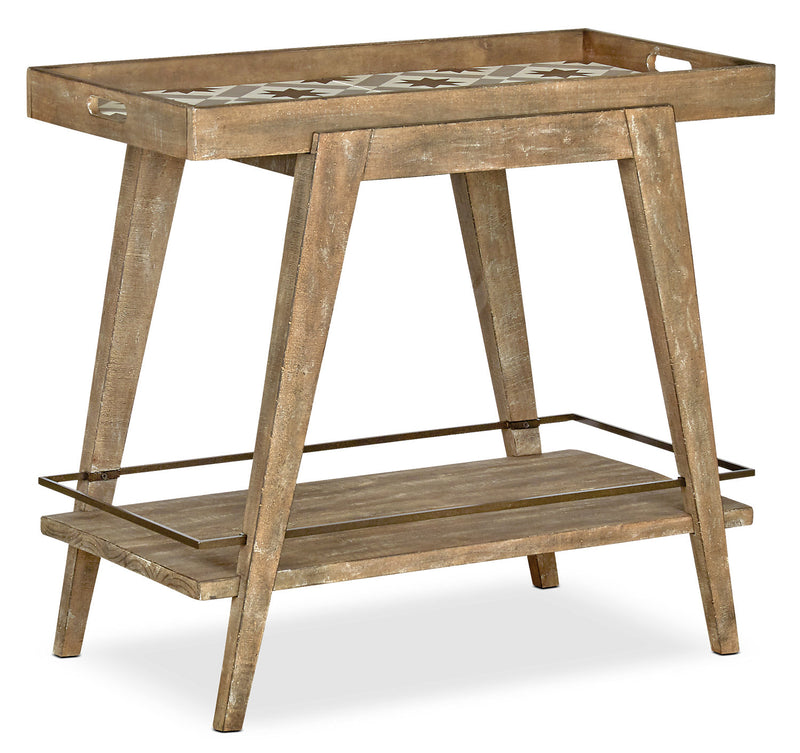 Bluff Heights Bar Cart - Weathered Nutmeg|Chariot-bar Bluff Heights - muscade vieillie