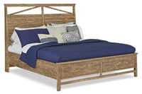 Bluff Heights King Bed – Weathered Nutmeg|Très grand lit Bluff Heights - muscade vieillie