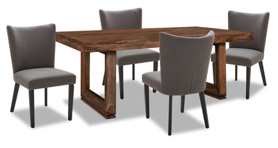 Brownstone 5-Piece Dining Set - Grey|Ensemble de salle à manger Brownstone 5 pièces - gris|BNSTCDP5
