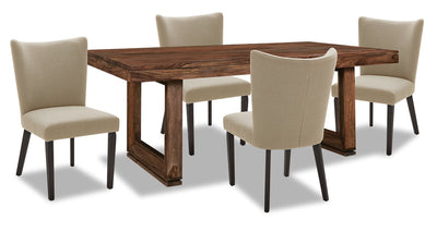 Brownstone 5-Piece Dining Set - Taupe|Ensemble de salle à manger Brownstone 5 pièces - taupe|BNSTTDP5