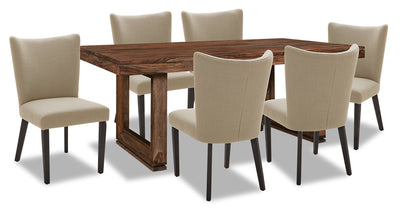 Brownstone 7-Piece Dining Set - Taupe|Ensemble de salle à manger Brownstone 7 pièces - taupe|BNSTTDP7