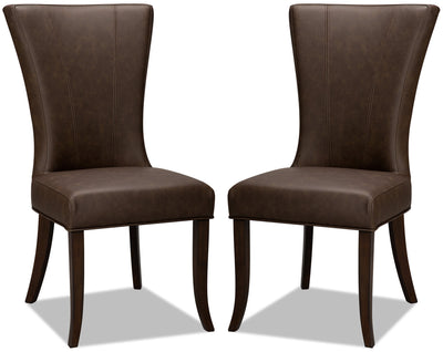 Bree Dining Chair, Set of 2 – Brown|Chaise de salle à manger Bree, ensemble de 2 – brune|BREECDSP