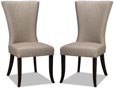 Bree Dining Chair, Set of 2 – Taupe|Chaise de salle à manger Bree, ensemble de 2 – taupe|BREETDSP