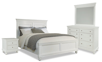 Bridgeport 6-Piece Queen Bedroom Set – White|Ensemble de chambre à coucher Bridgeport 6 pièces avec grand lit - blanc|BRIDGWQP6