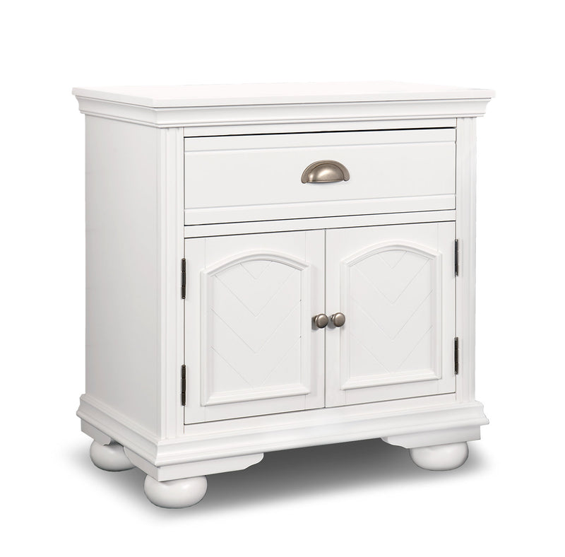Brooke Nightstand – White|Table de nuit Brooke – blanc