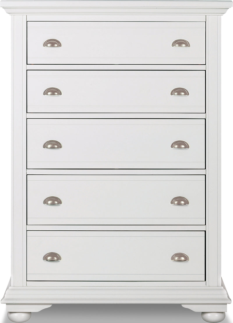 Brooke Chest – Off-White|Commode verticale Brooke – blanc cassé