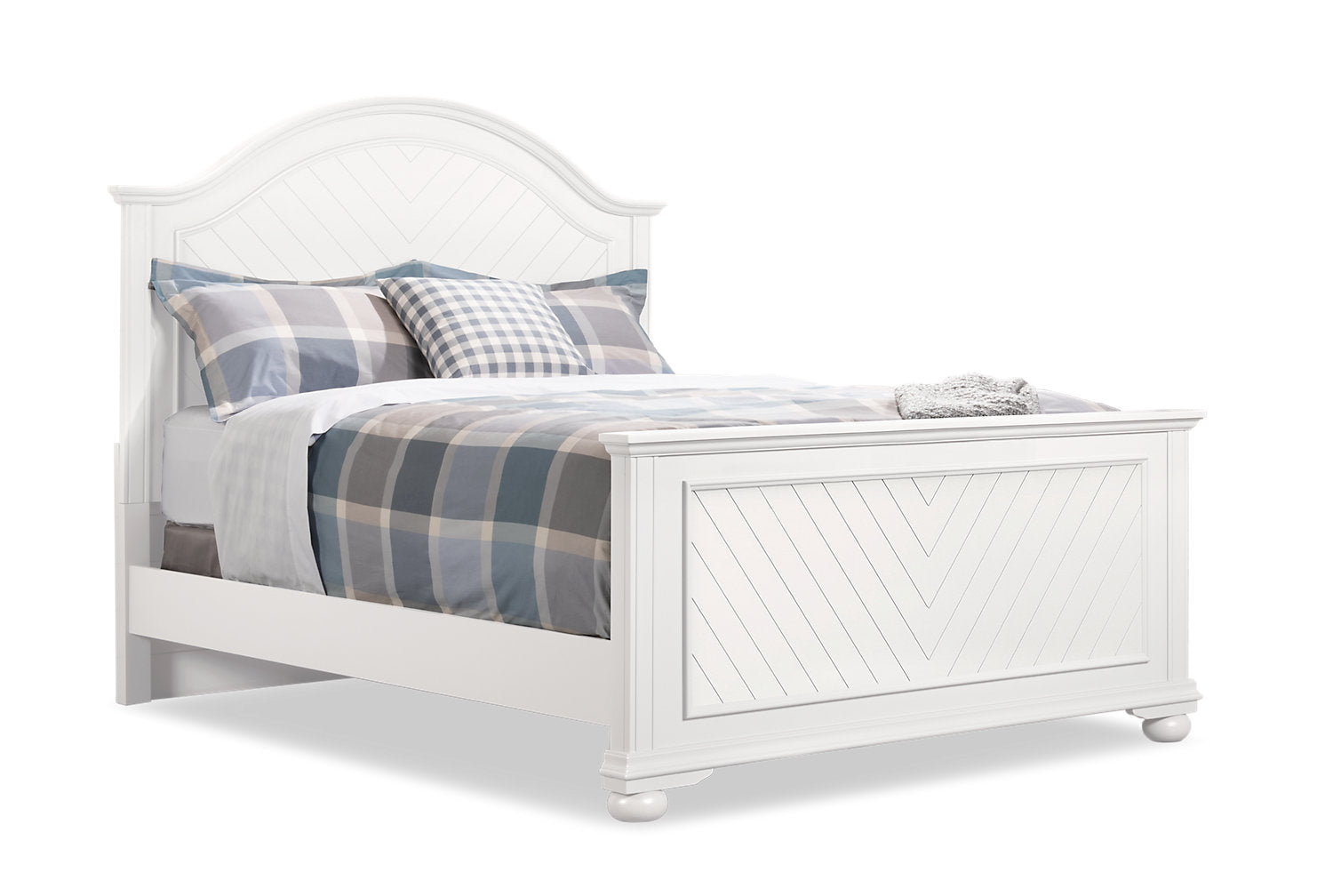 Brooke King Bed White The Brick