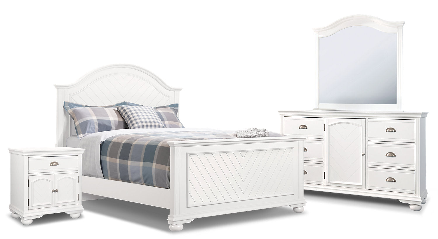 Brooke 6 Piece Queen Bedroom Package White The Brick