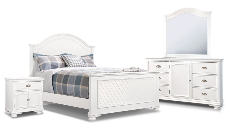 Brooke 6-Piece Queen Bedroom Package – White|Ensemble de chambre à coucher Brooke 6 pièces avec grand lit - blanc