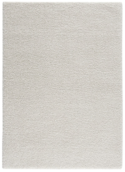 "Brooklyn White Shag Area Rug - 6'7"" x 9'6""