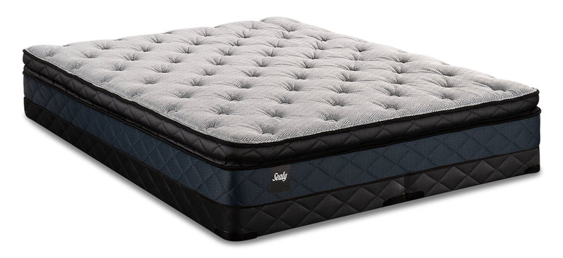 Sealy Brendon Pillowtop Low-Profile Split Queen Mattress Set|Ensemble matelas à plateau-coussin divisé à profil bas Brendon de Sealy pour grand lit