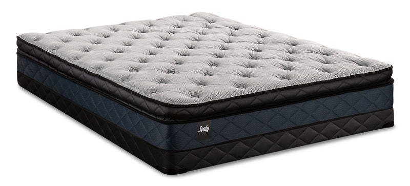 Sealy Brendon Pillowtop Low-Profile Queen Mattress Set|Ensemble matelas à plateau-coussin à profil bas Brendon de Sealy pour grand lit|BRNDOLQP