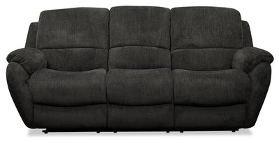 Brody Chenille Power Reclining Sofa - Steel - {Contemporary} style Sofa in Steel {Solid Woods}, {Plywood}