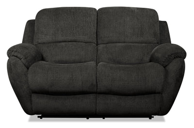 Brody Chenille Reclining Loveseat - Steel - {Contemporary} style Loveseat in Steel {Solid Woods}, {Plywood}