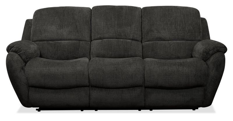 Brody Chenille Reclining Sofa - Steel|Sofa inclinable Brody en chenille - acier|BRODBRRS