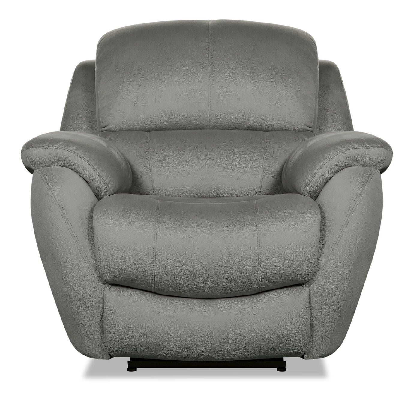 Suede Look Fauteuil.Brody Faux Suede Power Reclining Chair Grey The Brick