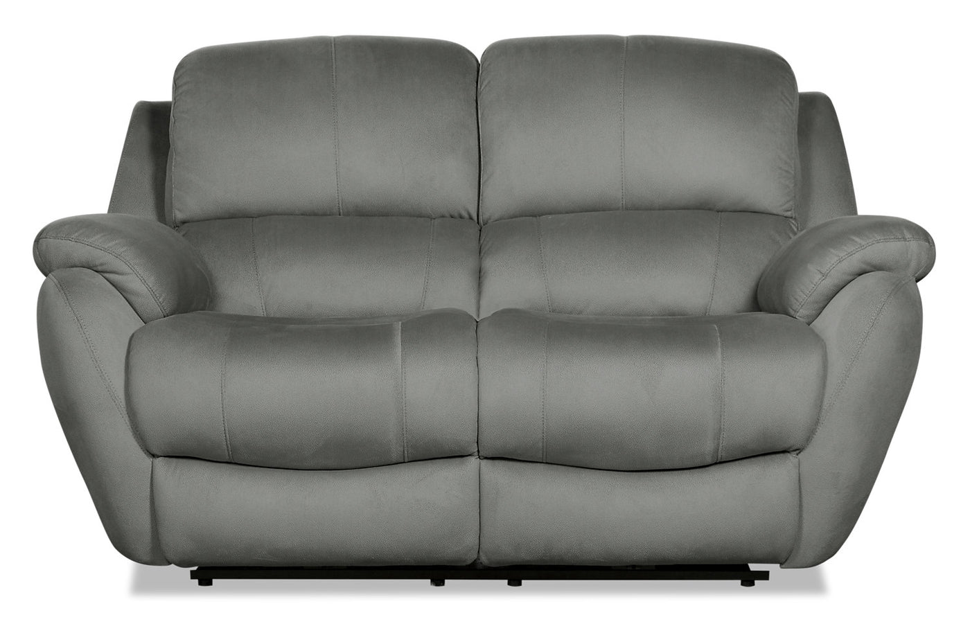 Strange Brody Faux Suede Power Reclining Loveseat Grey Beatyapartments Chair Design Images Beatyapartmentscom